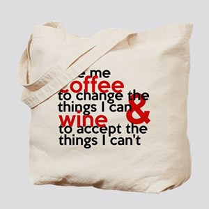 Give Me Coffee And Wine Humor Tote Bag