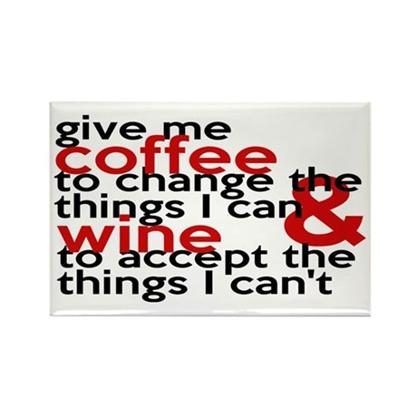 Give Me Coffee And Wine Humor Rectangle Magnet