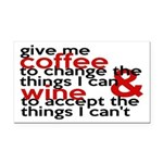 Give Me Coffee And Wine Humor Rectangle Car Magnet