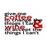 Give Me Coffee And Wine Humor 35x21 Wall Decal