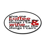 Give Me Coffee And Wine Humor 20x12 Oval Wall Deca