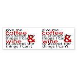 Give Me Coffee And Wine Humor Sticker (Bumper)