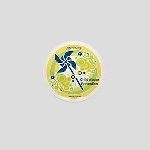 Child Abuse Prevention Yello Mini Button