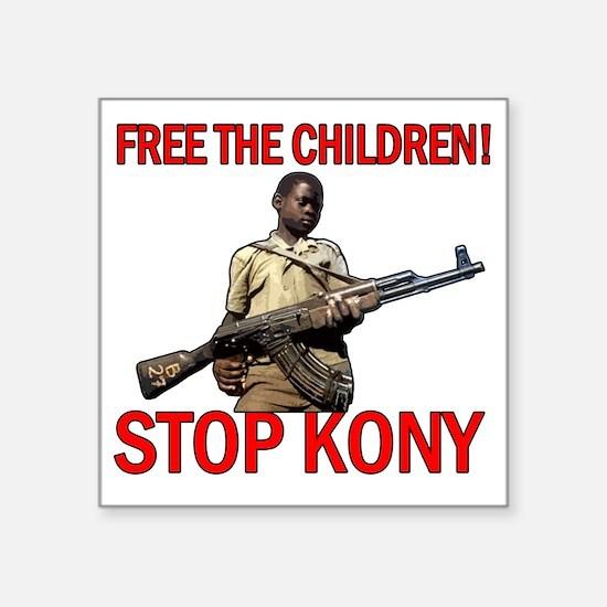 """Free The Children Square Sticker 3"""" x 3"""""""