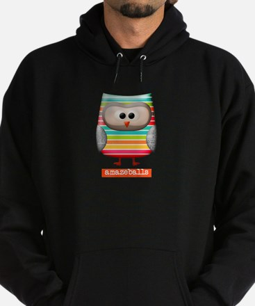 Amazing Amazeballs Striped Owl Hoodie (dark)