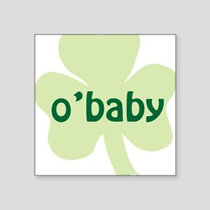"obaby shamrock_dark Square Sticker 3"" x 3"""
