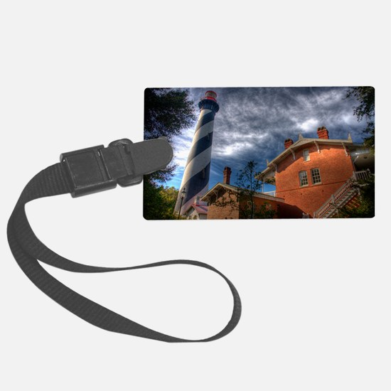 St Augustine Lighthouse Art Luggage Tag