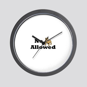No Dogs Allowed Wall Clock