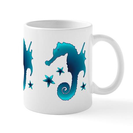 Aqua Seahorse Mug