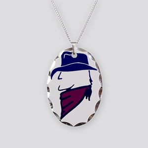 Head_Color for blue bg Necklace Oval Charm