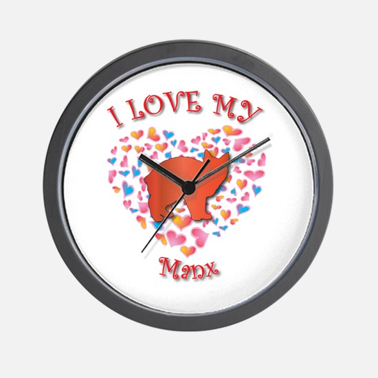 Love My Manx Wall Clock