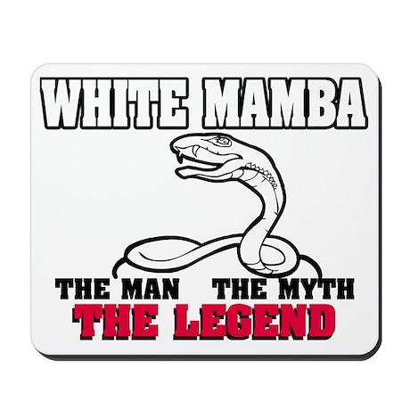 WhiteMambaWHITE Mousepad
