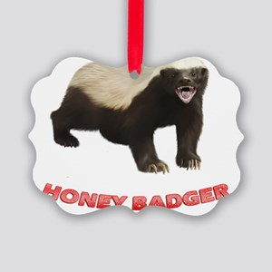 Honey Badger Picture Ornament