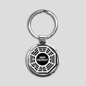 new-recruit Round Keychain