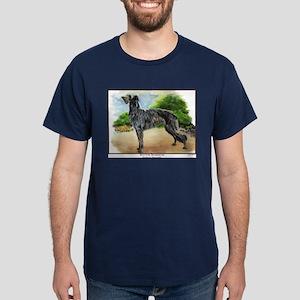 Scottish Deerhound Painting Dark Colored T-Shirt