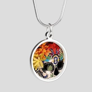 Mayan Rainbow Silver Round Necklace