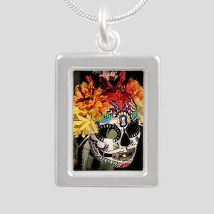 Mayan Rainbow Silver Portrait Necklace
