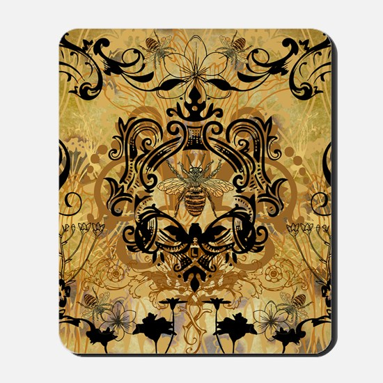 PRINTS - BEE floral Mousepad