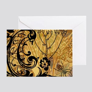PRINTS - BEE floral Greeting Card