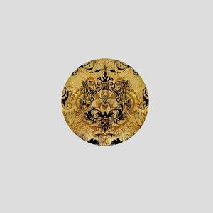 BeeFloralGoldKduvet Mini Button