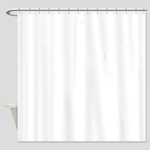 Osaka-ken (flat) white Shower Curtain