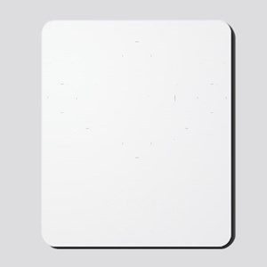Osaka-ken (flat) white Mousepad