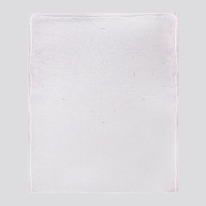 Osaka-ken (flat) white Throw Blanket