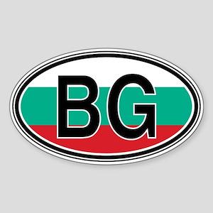 Bulgaria Euro Oval Sticker