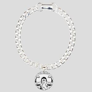 melanoma01 Charm Bracelet, One Charm