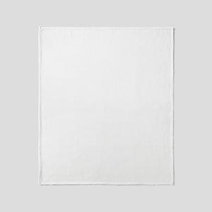 Toyama-ken (flat) white Throw Blanket