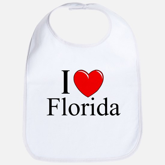 """I Love Florida"" Bib"
