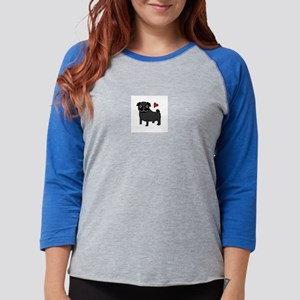 Black Pug Love Long Sleeve T-Shirt