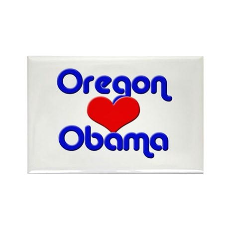 Oregon for Obama Rectangle Magnet