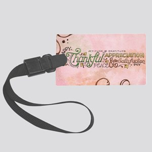 Attitude of Graditude Large Luggage Tag