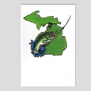 Michigan Fishin Postcards (Package of 8)