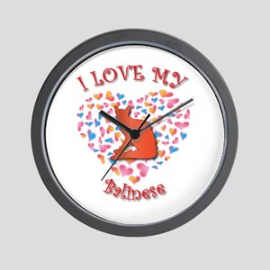 Love My Balinese Wall Clock