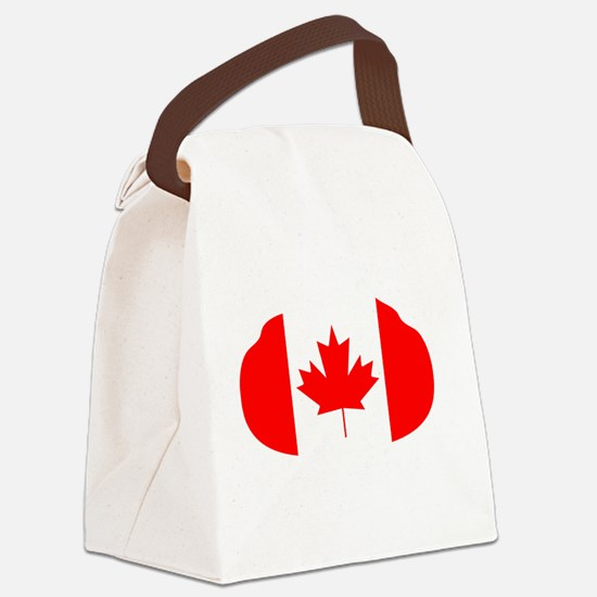 Canada Curling Canvas Lunch Bag