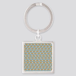 showercurtain Square Keychain