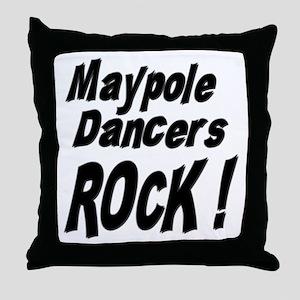 Maypole Dancers Rock ! Throw Pillow
