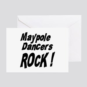 Maypole Dancers Rock ! Greeting Cards (Package of
