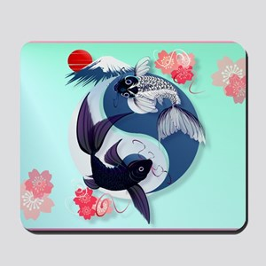 Yard Sign Yin and Yang Koi Mousepad