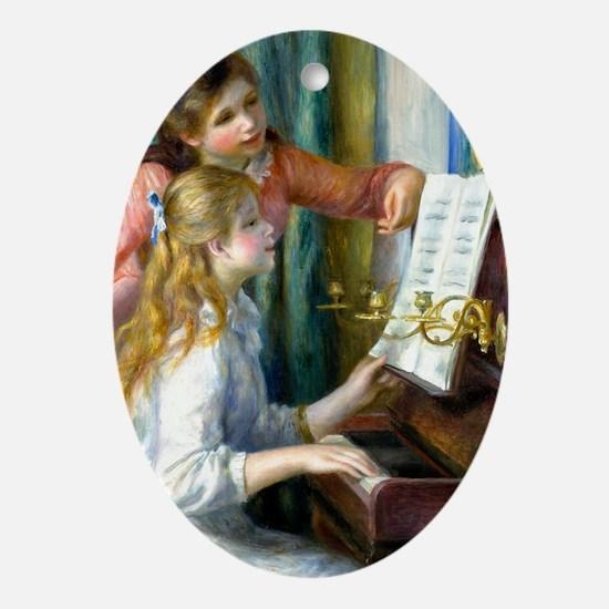 441 Renoir Piano Oval Ornament