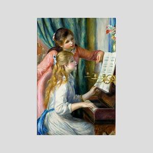 iPad Renoir Piano Rectangle Magnet