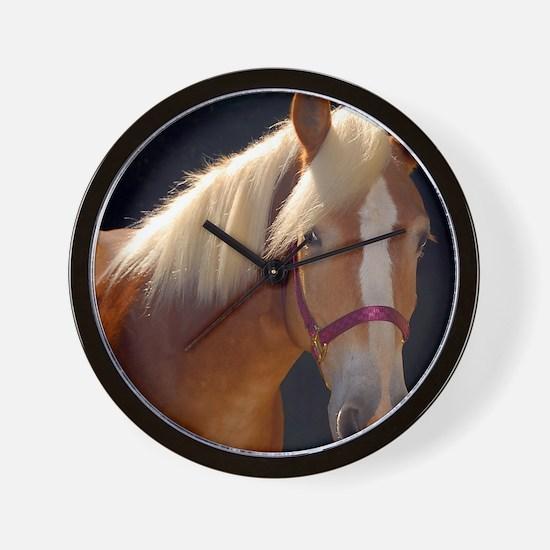 Sunlit Horse Wall Clock