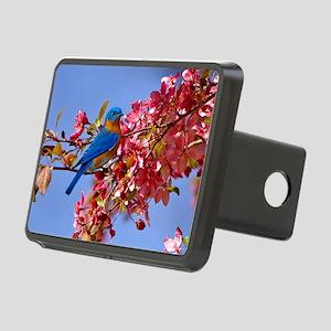 Bluebird in Blossoms Rectangular Hitch Cover