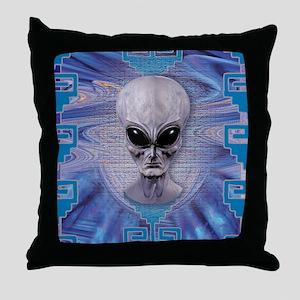 alien Tie Dye Throw Pillow