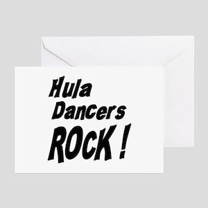 Hula Dancers Rock ! Greeting Cards (Pk of 10)