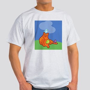 nookSleeveCatBirds Light T-Shirt