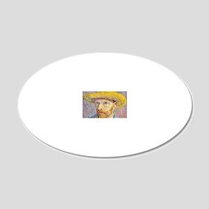 Cal VanGogh H22 20x12 Oval Wall Decal
