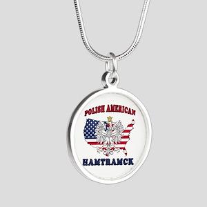 Hamtramck Michigan Polish Silver Round Necklace